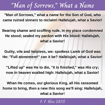 """Man of Sorrows,"" What a Name"