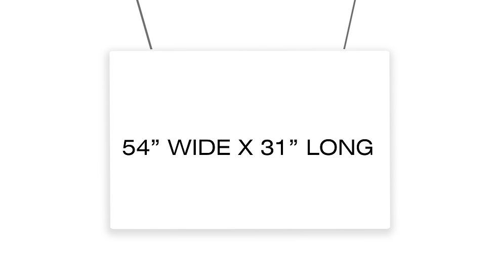 """Hanging Barrier / Clear Wall Partition Kit (54"""" x 31"""") $USD"""