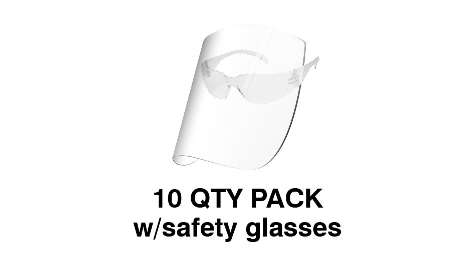 Redco Face Shield with Safety Glasses (Pack of 10) $USD