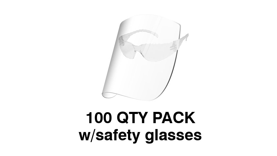 Redco Face Shield with Safety Glasses (Pack of 100) $USD
