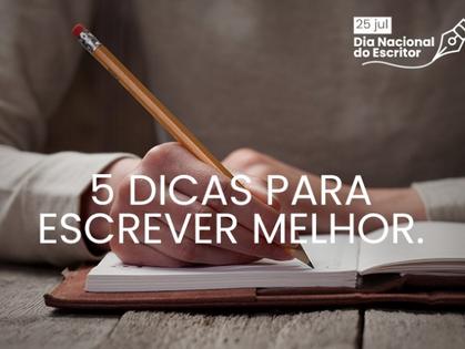 Dia Nacional do Escritor: conheça 5 dicas para escrever melhor