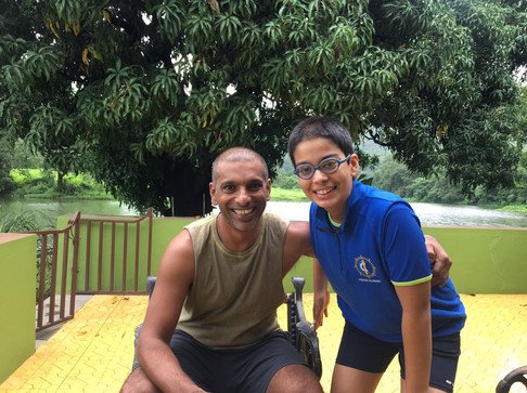Aimaan with coach Ritwik
