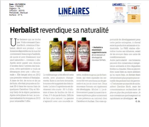 LINEAIRES Herbalist