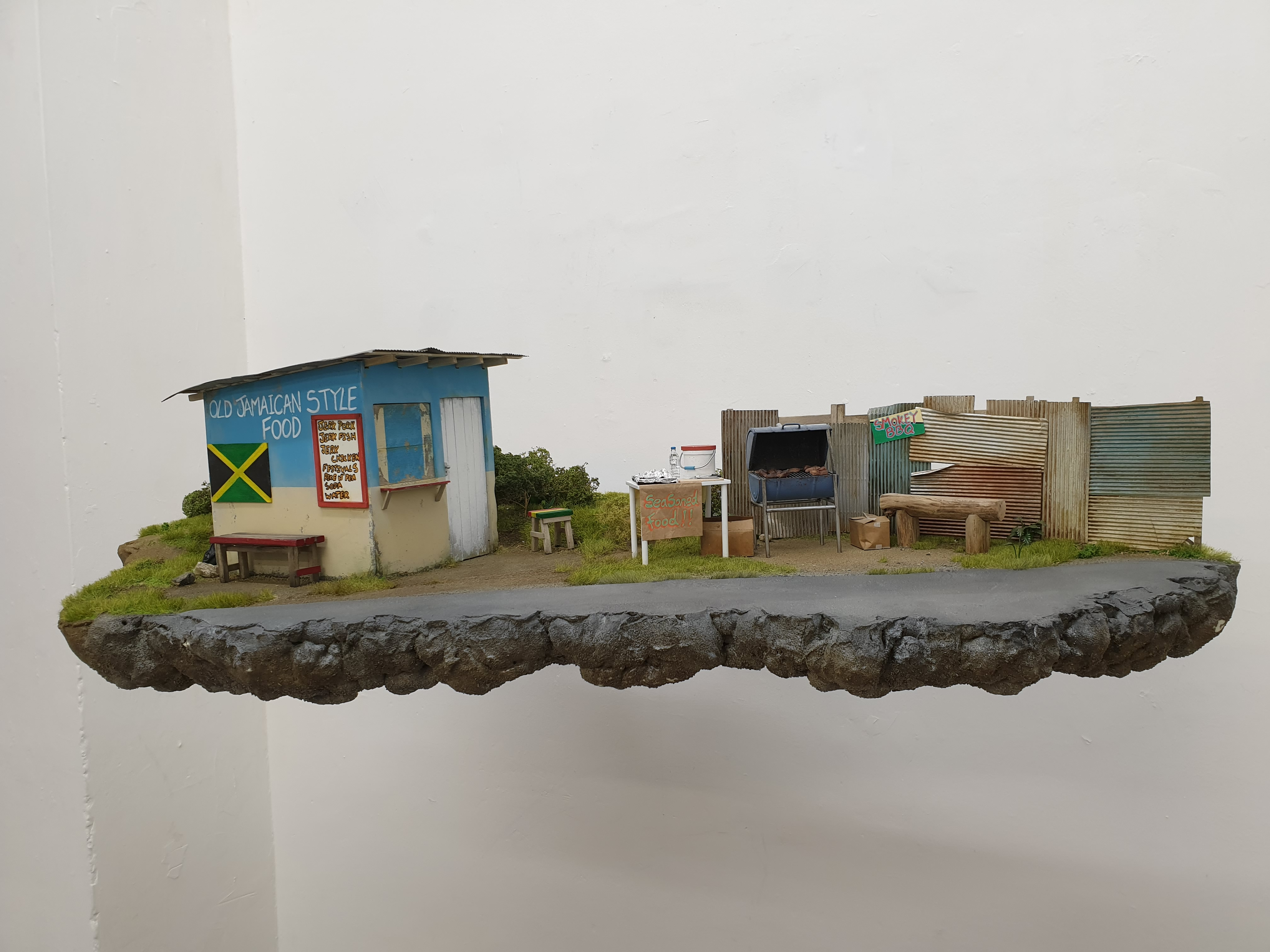 Irie jerk stand, Jamaica, 2019