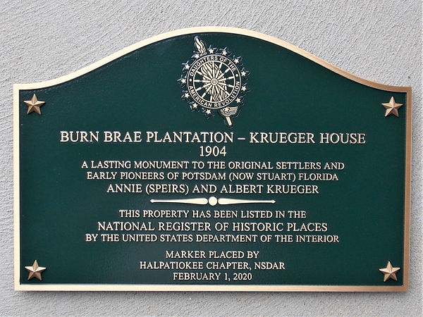 Burn Brae Plantation - Krueger House pla