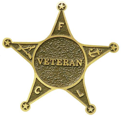 Veteran Service Marker Bronze