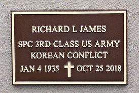 Richard L James Veterans niche marker.JP