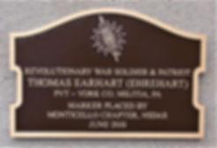 Thomas Earhart (Ehrehart) marker.JPG