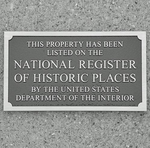 """Nat'l Reg. of Historic Places - Alum.  8"""" x 4-1/2"""""""