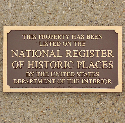 "Nat'l Reg. of Historic Places - Bronze 8""w x 4-1/2"