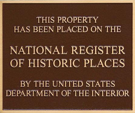 """Nat'l Reg. of Historic Places -  Bronze - 6""""x 5"""""""