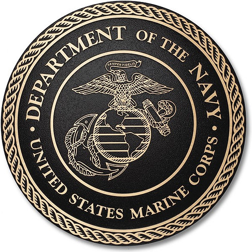 "Cast Bronze US Marine Corps Plaque 10"" Diameter"