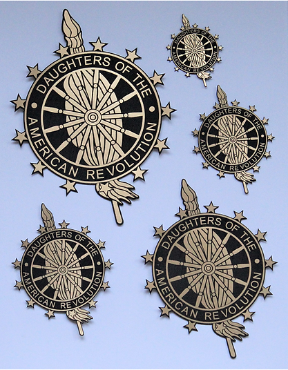 DAR satin brass acylic emblems.png