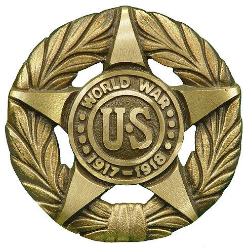 World War I Service Marker Bronze