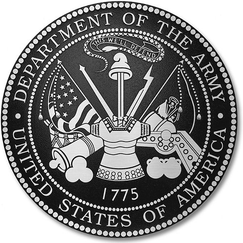 Department of the Army Cast Aluminum