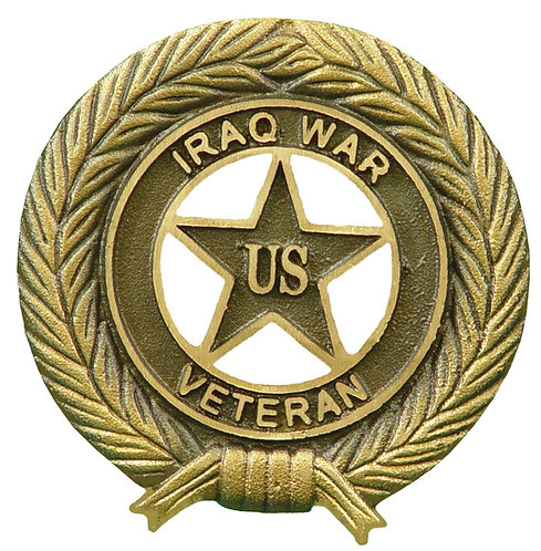 Iraq War Veteran Service Marker Bronze