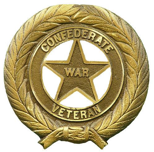 Confederate War Veteran Service Marker Bronze
