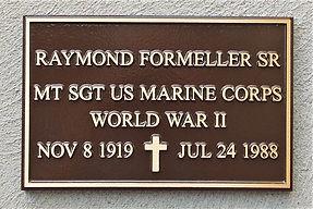 Raymond Formeller  Sr plaque.JPG