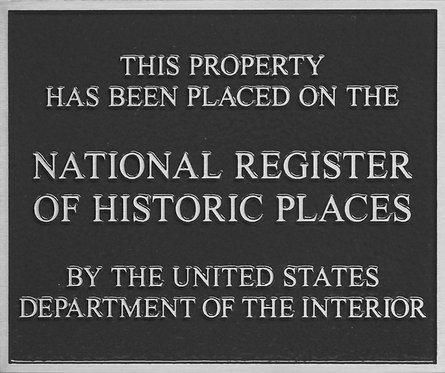 """Nat'l Reg. of Historic Places -  Aluminum 6"""" x 5"""""""