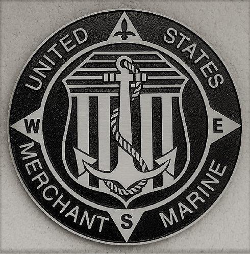U.S. Merchant Marine Cast Aluminum Emblem