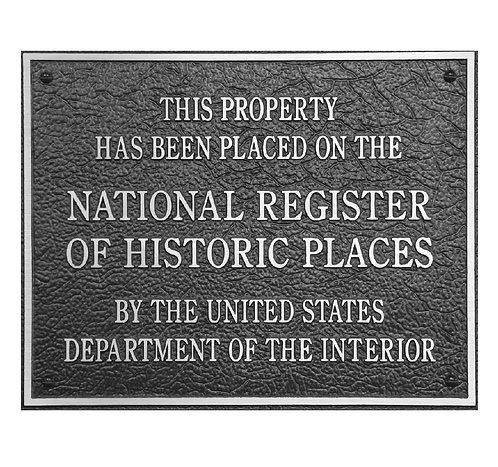"Nat'l Reg. of Historic Places - Alum. 6""w x 5""h"