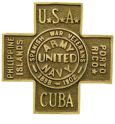 Spanish War Veteran Service Marker Bronze