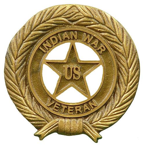 Indian War Service Marker Bronze