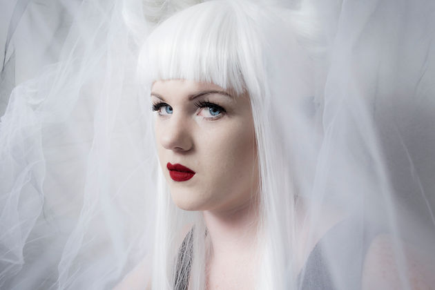 Photography White hair makeup fantasy