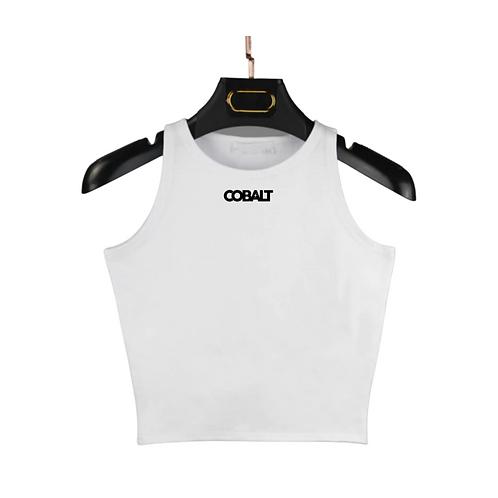 Cobalt Crop Top (White)