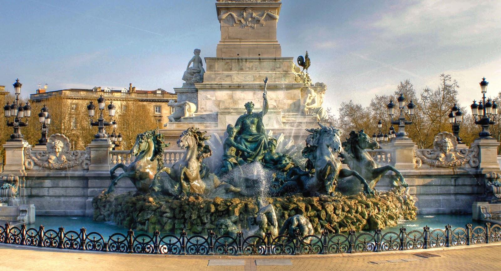 Fontaine Les Quinconce, Bordeaux