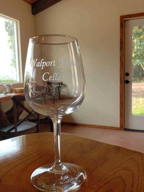 Walport Family Cellars Wine Glass