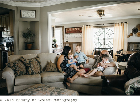 Joplin In-Home Family Session // Johnston Family
