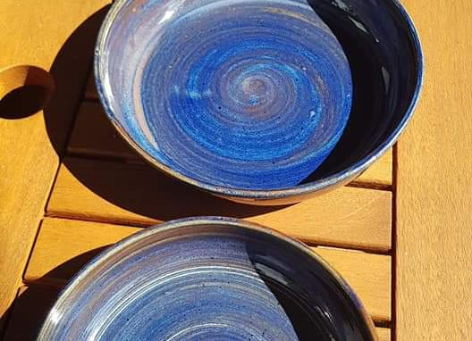 Schalen blauw