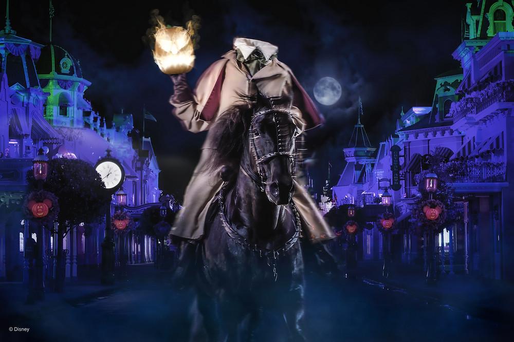 cavaleiro sem cabeça Halloween Magic Kingdom