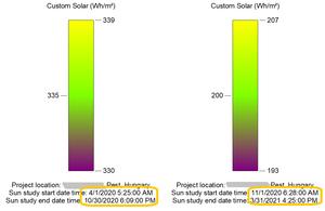 Revit Insight Solar result