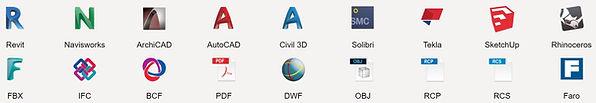 Revizto file formats Revit Navisworks ArchiCAD IFC
