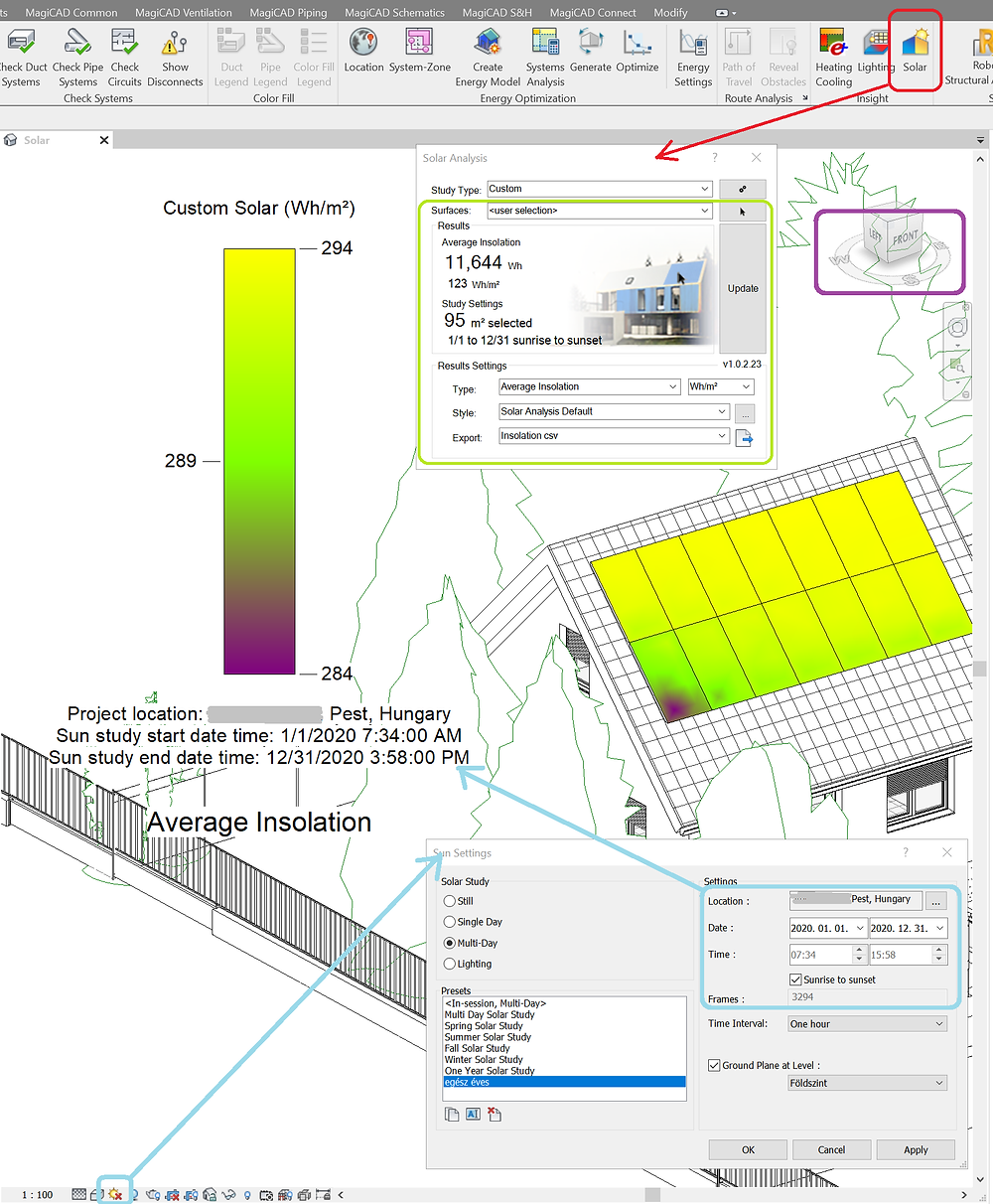 Revit Insight Solar analysis