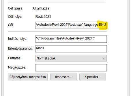 Revit nyelvek