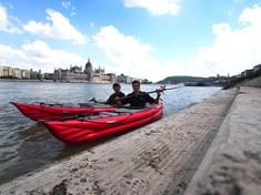 Kayaking on the Danube
