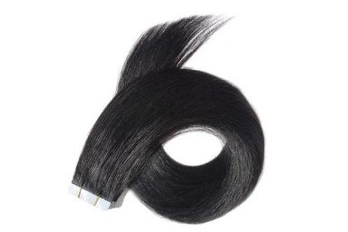 "20"" TAPE HAIR EXTENSIONS BLACK"