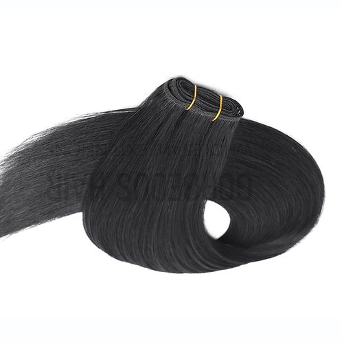 """24"""" MICRO WEFT HAIR EXTENSIONS BLACK"""