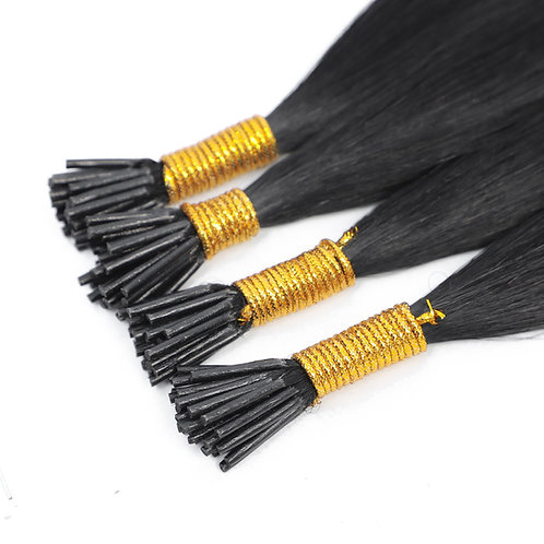 "20"" MICRO BEAD HAIR EXTENSIONS BLACK"