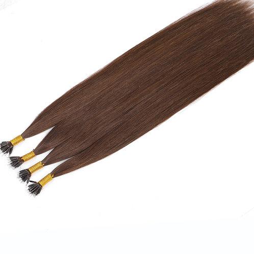 "20"" NANO BEAD HAIR EXTENSIONS BROWN"