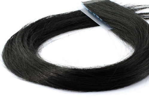 """20"""" INVISIBLE TAPE HAIR EXTENSIONS BLACK"""