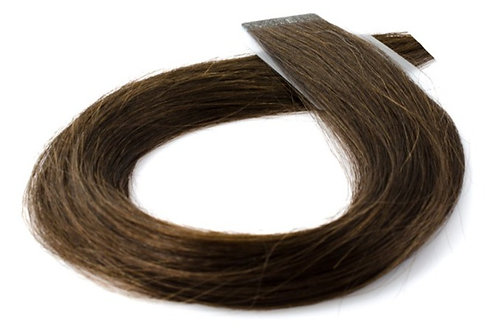 """20"""" INVISIBLE TAPE HAIR EXTENSIONS BROWN"""