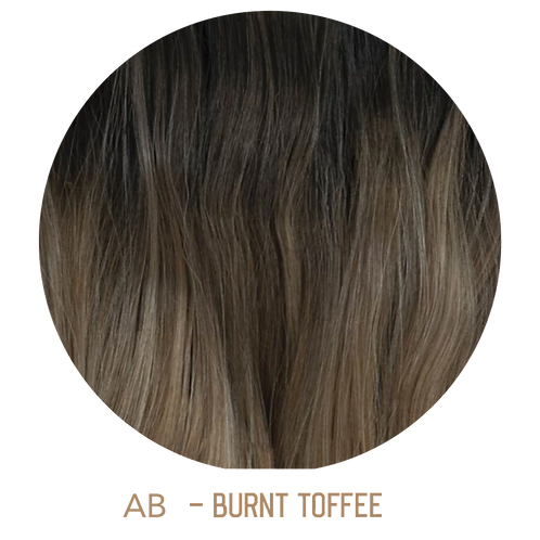 """OMBRE 20"""" TAPE HAIR EXTENSIONS BROWN"""