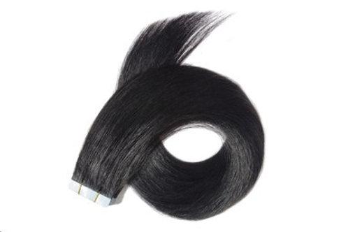 "24"" TAPE HAIR EXTENSIONS BLACK"