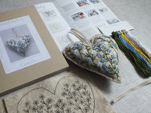 Camille Forget-me-not Hand Embroidery Kit