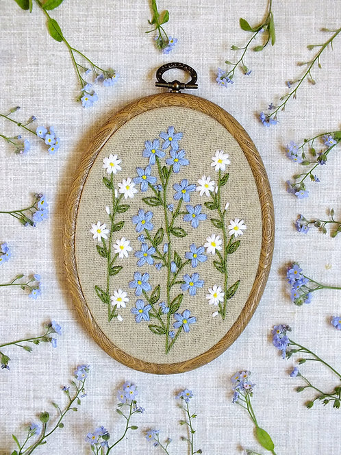 Camille Embroidery Kit - Oval Embroidery Hoop