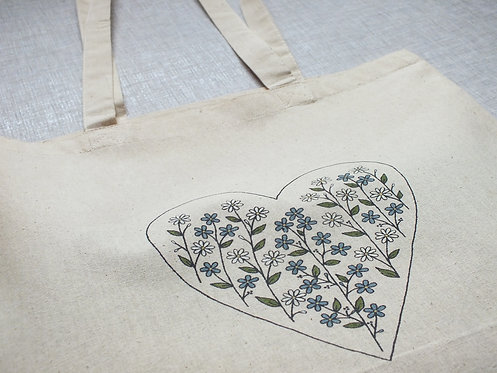 Camille Tote Bag - Screen Printed and Hand Painted